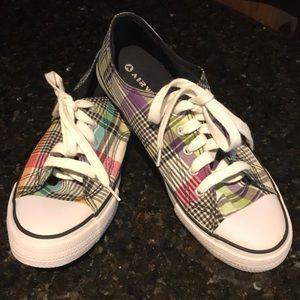 Airwalk 8.5 Bright Plaid sneakers, gently used